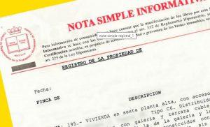 Qué es una Nota Simple del registro de la propiedad es España